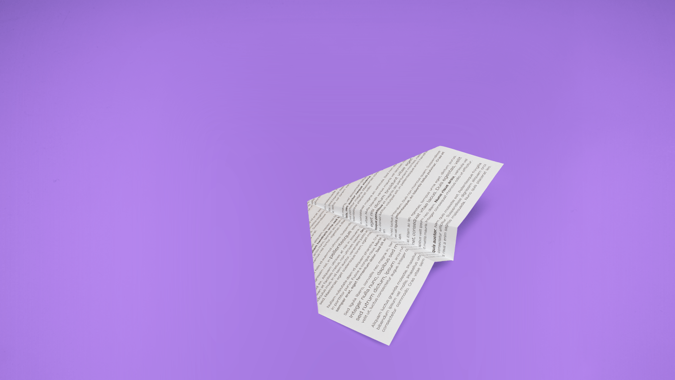 Stock paper airplane