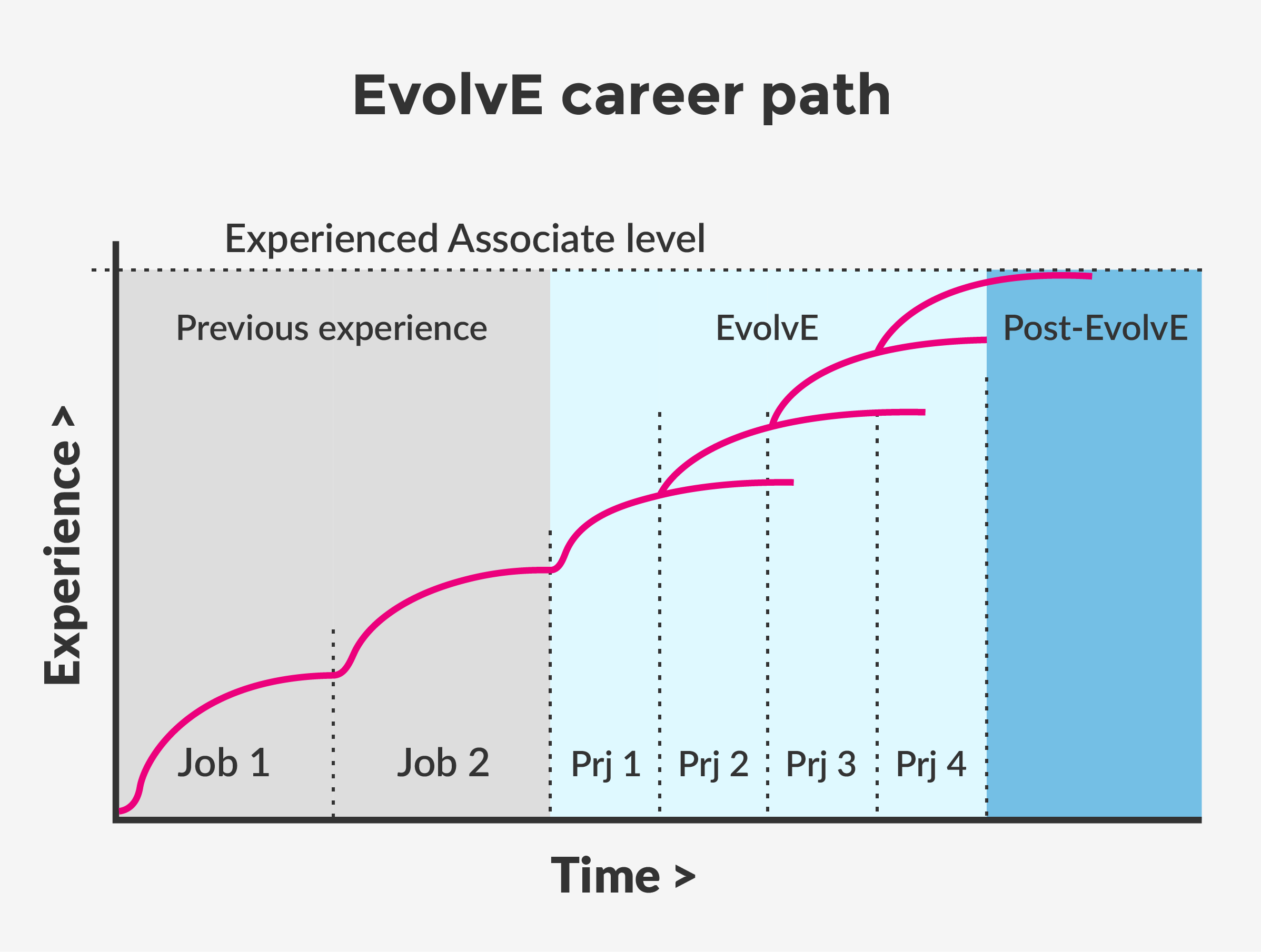 Equal experts evolve career path only