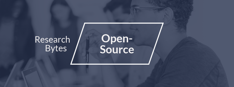 Research Byte relevant to Open-Source professionals or the Open-Source market.