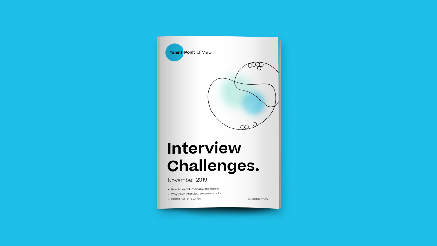 Interview challenges edition with magazine mockup.